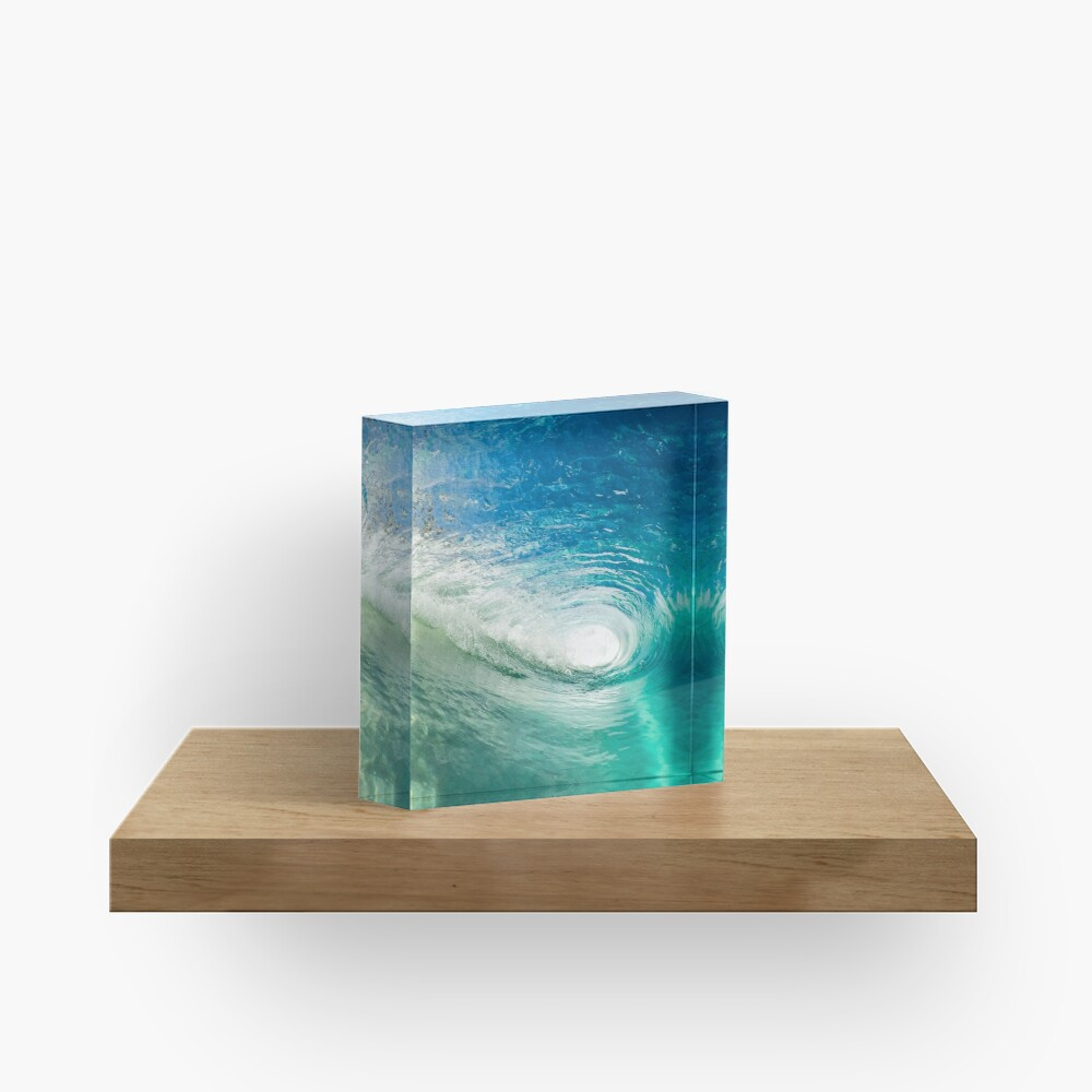 Wave Mandala - inside the barrel Acrylic Block