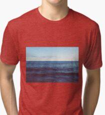 Dark Ocean Waves with Sky Tri-blend T-Shirt