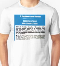 NDVH The Sun - Clarification / Correction Unisex T-Shirt