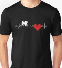 Special Papillon Heartbeat Dog T-shirt  Unisex T-Shirt