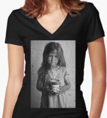 """""""Children of Tomorrow: Homeless Project"""" Women's Fitted V-Neck T-Shirt"""