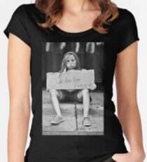 """""""Children of Tomorrow: Homeless Project"""" Women's Fitted Scoop T-Shirt"""