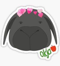 OKJA hearts Sticker