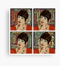 Beautiful Lips (Quotes) Canvas Print