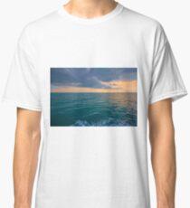 Vivid Orange Ocean Sunset Classic T-Shirt
