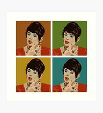 Beautiful Lips (Warholed) Art Print