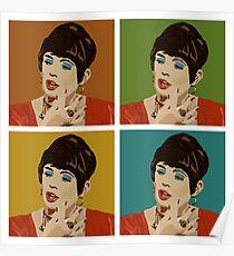 Beautiful Lips (Warholed) Poster