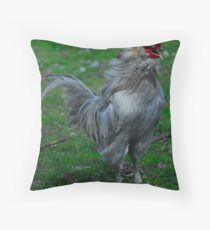 cockadoodle doo at margam red bubble meet  Throw Pillow