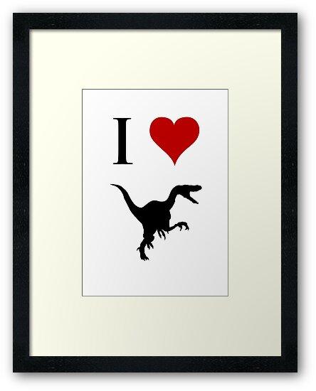 I Love Dinosaurs - Velociraptor by jezkemp