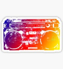Old School Boombox Sticker