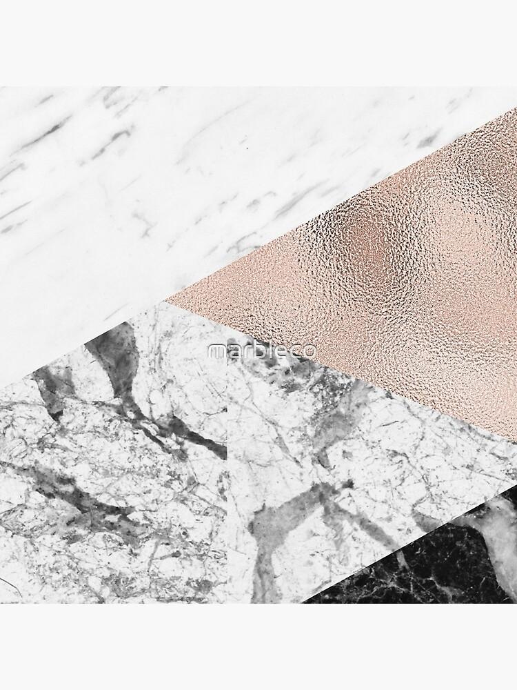 Espectacular mezcla de mármol de marbleco