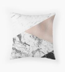 Dramatic marble medley Throw Pillow