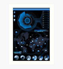 Abstract Futuristic infographic big data Art Print