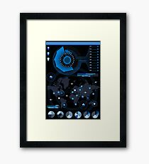 Abstract Futuristic infographic big data Framed Print