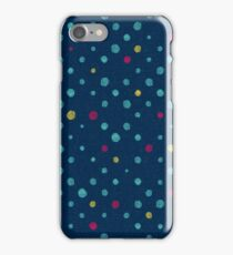 LOTS OF DOTS / prussian blue / turquoise green / deep red / yellow iPhone Case/Skin