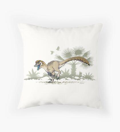 Troodon Throw Pillow