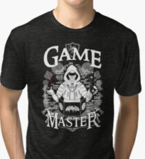 Game Master - White Tri-blend T-Shirt