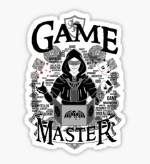 Game Master - White Sticker
