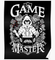 Game Master - White Poster