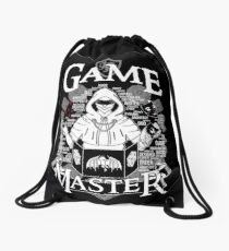 Game Master - White Drawstring Bag