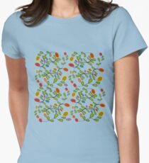 flores abstractas Womens Fitted T-Shirt