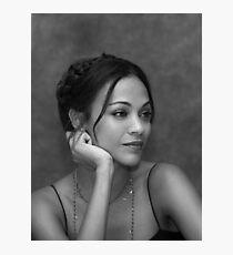 Zoe Saldana Photographic Print