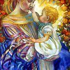 the madam of oriental persimmon with cherub by elisabetta trevisan