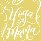 Yoga Mama White Hand Letter Design by DoubleBrush