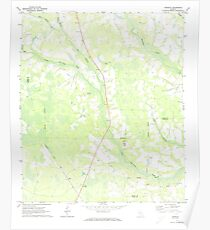 USGS TOPO Map Georgia GA Crawley 245441 1971 24000 Poster