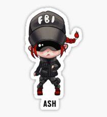 R6 Ash Chibi Sticker