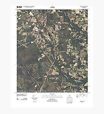 USGS TOPO Map Georgia GA Crawley 20110310 TM Photographic Print