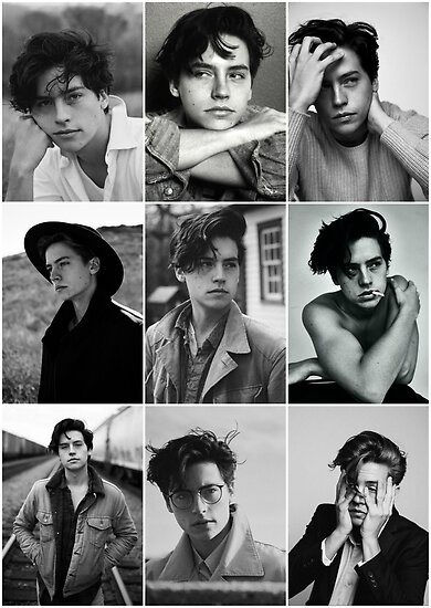 Cole sprouse black and white aesthetic collage by alyciathefox