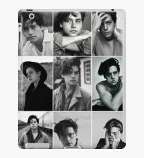 cole sprouse black and white aesthetic collage iPad Case/Skin