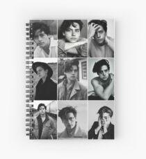 Cole Sprouse schwarze und weiße ästhetische Collage Spiralblock