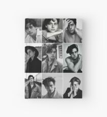 cole sprouse black and white aesthetic collage Hardcover Journal