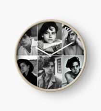 cole sprouse black and white aesthetic collage Clock