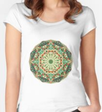 Round ethnic pattern Women's Fitted Scoop T-Shirt
