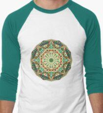 Round ethnic pattern Men's Baseball ¾ T-Shirt