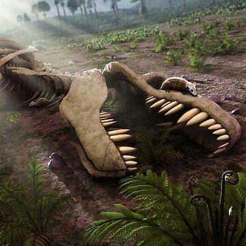 New Life - The Death of Tyrannosaurus by magarlick