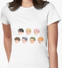 BTS -BS, T Chibi Womens Fitted T-Shirt