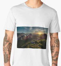 Sunset at Meteora Men's Premium T-Shirt