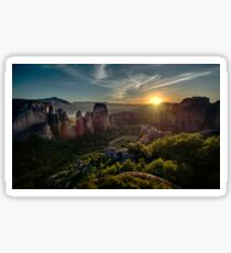Sunset at Meteora Sticker