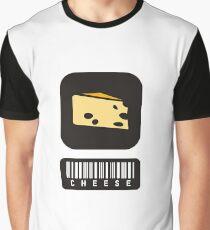 Barcode Cheese Graphic T-Shirt
