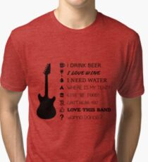 Music Festival Point and Ask Tri-blend T-Shirt