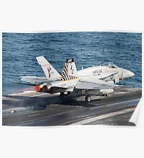 An F/A-18C Hornet launches from USS Harry S. Truman. Poster