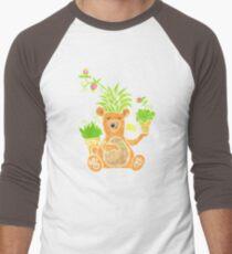 The gardening bear and his wild hair Men's Baseball ¾ T-Shirt