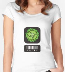 Barcode Salad Women's Fitted Scoop T-Shirt