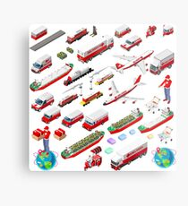 Worldwide Express Delivery Concept Metal Print