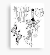Tattoo flash Canvas Print