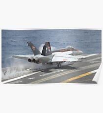 An F/A-18E Super Hornet launches from USS Nimitz. Poster